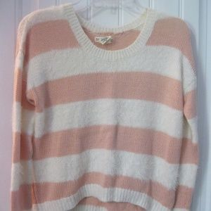 Fuzzy Knit Striped Woman's Pullover